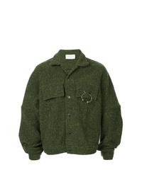 Veste-chemise vert foncé Strateas Carlucci