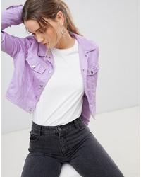 Veste-chemise violet clair PrettyLittleThing