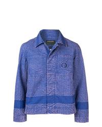 Veste-chemise violette