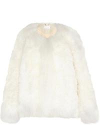 Veste de fourrure blanche Chloé