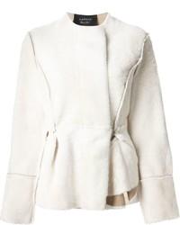 Veste de fourrure blanche Lanvin