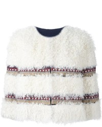 Veste de fourrure blanche RED Valentino