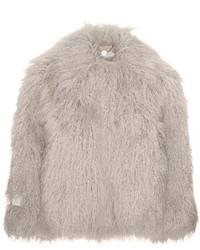Veste de fourrure grise Stella McCartney