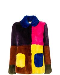 Veste de fourrure multicolore Marni
