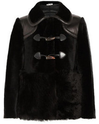 Veste de fourrure noire Miu Miu