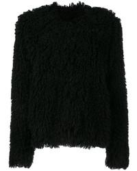 Veste de fourrure noire