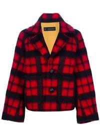 Veste écossaise rouge et noir DSquared