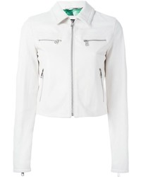 Veste en cuir blanche Dolce & Gabbana