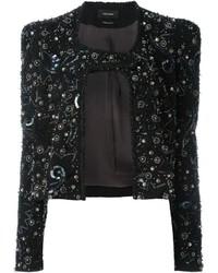 Veste en cuir ornée noire Isabel Marant
