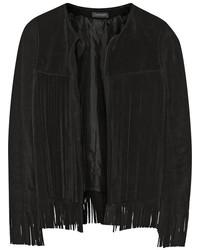 Veste en daim noire