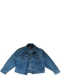 Veste en denim bleu