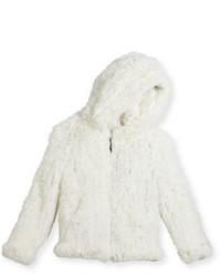 Veste en fourrure blanche