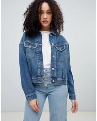 Veste en jean à clous bleue Wrangler