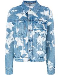 Veste en jean à étoiles bleu clair Givenchy