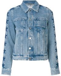 Veste en jean à étoiles bleue claire Givenchy