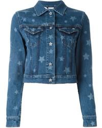 Veste en jean à étoiles bleue Valentino