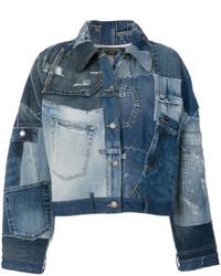Veste en jean à patchwork bleue Dolce & Gabbana
