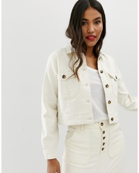 Veste en jean blanche ASOS DESIGN