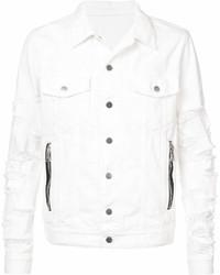 Veste en jean blanche Balmain