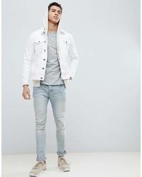 Veste en jean blanche Brave Soul