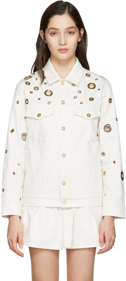 710eab47b4 Veste en jean blanche Kenzo, €797 | SSENSE | Lookastic France