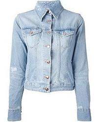 Veste en jean bleu clair