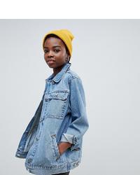 Veste en jean bleu clair Asos Petite