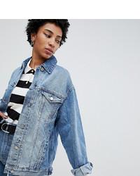 Veste en jean bleu clair Asos Tall