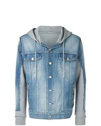 Veste en jean bleu clair Balmain