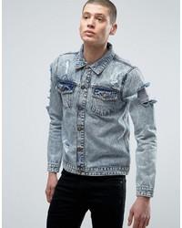 Veste en jean bleu clair Brave Soul