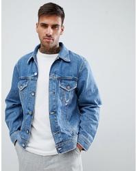 Veste en jean bleu clair Diesel