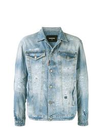 Veste en jean bleu clair DSQUARED2