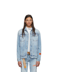 Veste en jean bleu clair Heron Preston