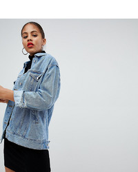 Veste en jean bleu clair Missguided Tall