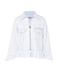 Veste en jean bleu clair MSGM