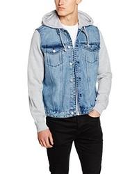 Veste en jean bleu clair New Look