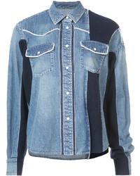Veste en jean bleu clair Sacai