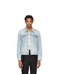 Veste en jean bleu clair Saint Laurent