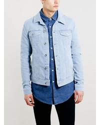 Veste en jean bleu clair Topman