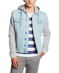 Veste en jean bleu clair Urban Classics