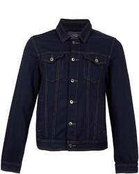 Veste en jean bleu marine