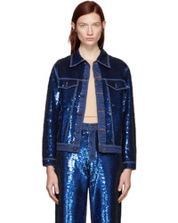 Veste en jean bleu marine Ashish