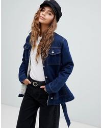 Veste en jean bleu marine ASOS DESIGN