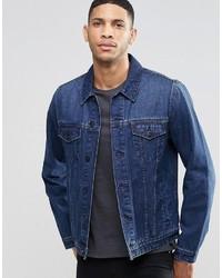 Veste en jean bleu marine Asos