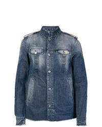 Veste en jean bleu marine Balmain