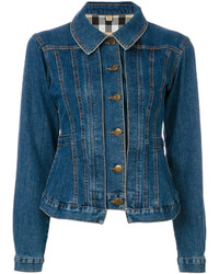 Veste en jean bleu marine Burberry