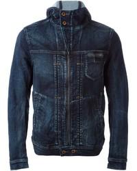 Veste en jean bleu marine Diesel