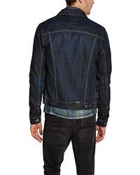 Veste en jean bleu marine Dn67