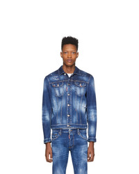 Veste en jean bleu marine DSQUARED2