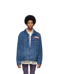 Veste en jean bleu marine Gucci